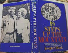 SIGNED inspirational: 19 Steps Up The Mountain, HC 1st Edition 1975 adopted kids