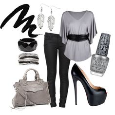 Blacks and Grays..Going out or Casual..