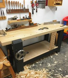 "1,049 Likes, 19 Comments - Walke Moore Tools (@walkemooretools) on Instagram: ""Bench shelf in. #woodworking #handtools #woodwork #workbench"""