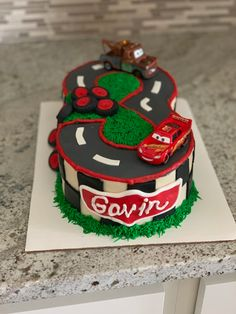 How cute is this Cars cake?!     #cake #buttercream #fondant #cars #birthday #birthdaycake #carscake #cakedecorator #decoratedcake #desmoines #desmoinesiowa #yum #thesweetestthing