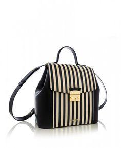 YV 8223 ALB NEGRU NAPPA Leather Backpack, Fashion Backpack, Backpacks, Bags, Handbags, Leather Backpacks, Backpack, Backpacker, Bag