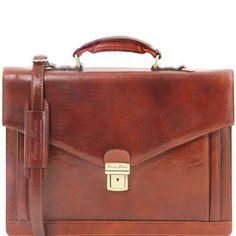VOLTERRA TL141544 Leather TL SMART briefcase 2 compartments