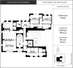 135 East 79th Street Penthouses Listed for $28.5M, $18.5M - Floorplan Porn - Curbed NY