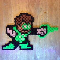 Green Lantern perler beads by wrxkb