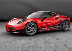 Alfa Romeo sports car, the new safety car for the 2014 FIA WTCC. Alfa 4c, Alfa Romeo 4c, Alfa Romeo Cars, Good Looking Cars, Sweet Cars, Performance Cars, Car Pictures, Car Images, Hot Cars