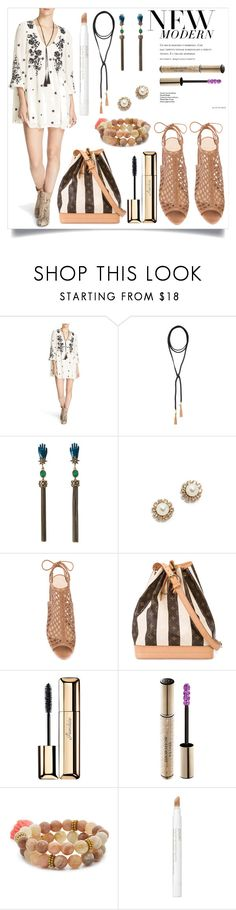 """""""New modern fashion"""" by camry-brynn ❤ liked on Polyvore featuring Free People, Vanessa Mooney, Roberto Cavalli, Marc Jacobs, Alexandre Birman, Louis Vuitton, Guerlain, Christian Dior, Lacey Ryan and Jouer"""