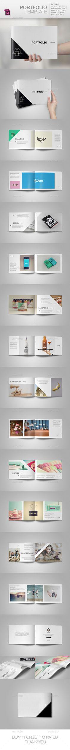 Portfolio Brochure Template #design Download: http://graphicriver.net/item/portfolio-template/10290456?ref=ksioks