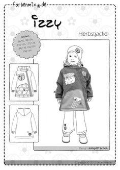 IZZY, Papierschnittmuster - farbenmix Online-Shop - Schnittmuster, Anleitungen zum Nähen