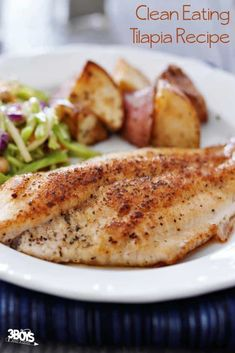 Paleo Fish Recipes, Salmon Recipes, Seafood Recipes, Cooking Recipes, Healthy Recipes, Talpia Recipes, Fruit Recipes, Baked Tilapia Recipes Healthy, Diabetic Recipes