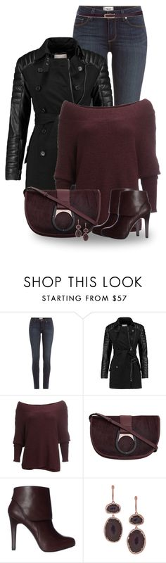 """""""Burgundy"""" by jennsprettylittlefriend ❤ liked on Polyvore featuring Paige Denim, W118 by Walter Baker, Free People, Calvin Klein and Zimmermann"""