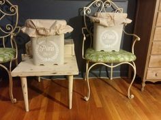 cute storage refurbish using large cat litter containers, crafts, decoupage, how to, repurposing upcycling, storage ideas