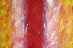 "Unpretentious Abstract - 24"" x 36"" original acrylic painting - contemporary modern decorative sofa painting"