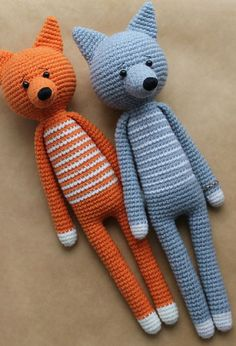 crochet long-legged amigurumi toys
