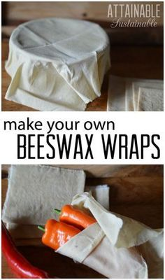 Natural & DIY Skin Care : Reusable beeswax wraps can help you eliminate plastic waste in your kitchen. Here are step by step instructions on how to make your own. Great for your zero waste kitchen and for gifts, too! -Read More – Zero Waste, Trick 17, Limpieza Natural, Cocina Natural, Plastic Waste, Plastic Wrap, Plastic Plastic, Green Life, Sustainable Living