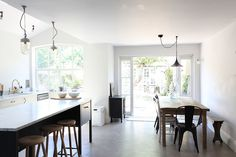 Sophisticated interior   Period home   Kitchen island   Combining styles in the kitchen
