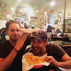 I love their friendship. Rick Hoffman + Patrick J Adams Suits USA