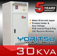 Stabilizer Yoritsu MDi-30 kapasitas 30 KVA.  http:// hexta.co.id, email : sales@hexta.co.id, Telp : (021) 2925-5900, 2925-5905 (Huntings)