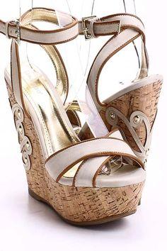 pastel wedge sandals