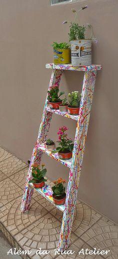 Como transformar uma velha escada em jardim