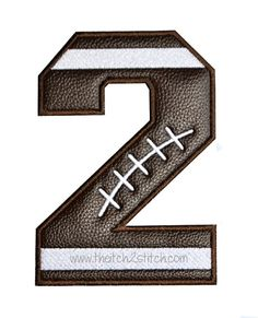 Football Varsity Applique Numbers