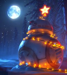 BB-8 at Christmastime
