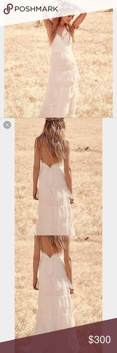 Free People Erin Fethersron Tiered Wedding Dress NWOT. The tag just got ripped off. Please see all pictures. Mark through label to prevent returns. Free People Dresses Wedding