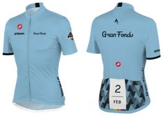 Complete the #StravaGranFondo Challenge and you will unlock the ability to purchase a limited edition Gran Fondo Jersey made by Castelli.