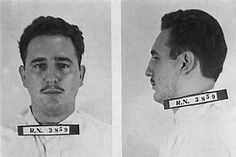 Fidel Castro arrested after the attack on the Moncada Military Barracks on July 1953 / Porque lo soltaron ? Cuba, Fidel Castro, Ernesto Che Guevara, Social Art, Rare Pictures, Yesterday And Today, Criminal Minds, Mug Shots, Revolutionaries