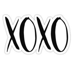 XOXO Hugs and Kisses sticker