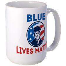 BLUE LIVES MATTER DECAL Mugs