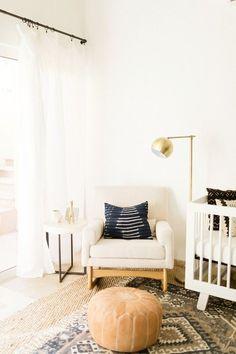 Classic modern boy's nursery and newborn photos