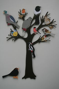 Tree of Life papercut inspired by the symbolism of the tree of life and how it sustains so much life using the tree in my garden and all the different types of birds seen feeding on it. Bird Paper Craft, Paper Folding Crafts, Paper Flower Art, 3d Paper Art, Cool Paper Crafts, Paper Birds, Bird Crafts, Paper Crafts Origami, Paper Artwork