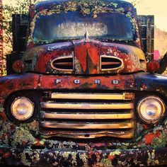 A seriously old crusty Ford.... texture and stuff growing it... | Flickr - Photo Sharing! #fordvintagecars #classictrucks