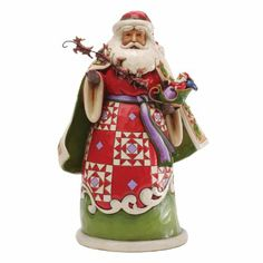 Jim Shore Heartwood Creek Collection Christmas Miracles Are In Your Grasp Santa Holding Sleigh Figurine