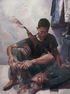 Trippy painting by Adam Lupton   http://ift.tt/1ZbCkG9 via /r/woahdude http://ift.tt/22pchAS