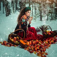 In my mind, this is what the author of my Russian Gypsy Fortune Telling Cards looks like!   amazing-photography-margarita-kareva-12