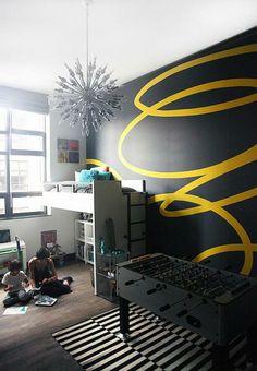 tipps für wände streichen - kinderzimmer schön gestalten - 62 kreative Wände streichen Ideen – interessante Techniken