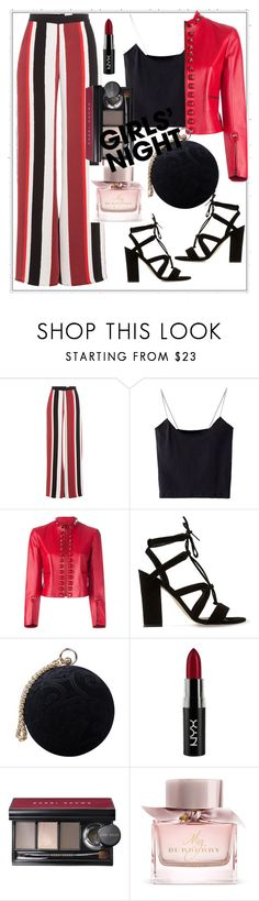 """""""Girls night Out"""" by aagyekumwaa ❤ liked on Polyvore featuring Zeus+Dione, Fendi, Dune, Carvela, NYX, Bobbi Brown Cosmetics and Burberry"""