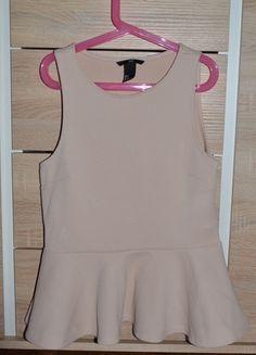 Kup mój przedmiot na #vintedpl http://www.vinted.pl/damska-odziez/bluzki-bez-rekawow/11094237-bluzka-baskinka-hm-pudrowy-roz-wytlaczany-material