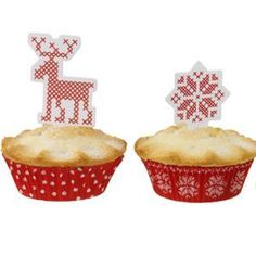 Cross Stitch Christmas Cupcake Cases & Toppers  http://www.littlecupcakeboxes.co.uk/cupcakeboxes/Cross-Stitch-Christmas-cupcake-cases-toppers-783.html