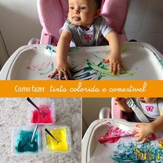 Pintando o sete com tinta comestível Infant Sensory Activities, Baby Sensory Play, Reggio Emilia, Infant Curriculum, Plastic Cutting Board, Baby Room, Homeschool, Education, Children