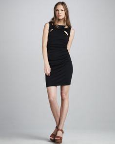 Susana Monaco Cutout Jersey Dress - Neiman Marcus