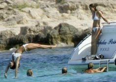 September 3, 2006 - Kate was spotted on a yacht in Ibiza, Spain while holidaying with her family and Prince William.