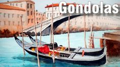 Online art class about Painting Gondolas in Watercolour. You can watch this class at any time, as often as you like. Art Lessons Online, Online Art Classes, Basket Tv, Painted Baskets, Learn To Paint, Watercolor Paintings, Watercolour, Sailing Ships, Painting Tutorials