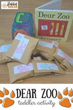 Dear Zoo toddler activity- three ideas to to try out with young children with the book Dear Zoo by Rod Campbell- to help speaking and listening, storytelling and learning the alphabet Dear Zoo Activities, Eyfs Activities, Infant Activities, Preschool Activities, Children Activities, Toddler Activities For Daycare, Animal Activities For Kids, Toddler Teacher, Library Activities