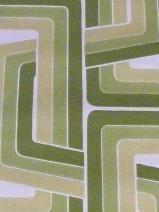 groen geometrisch vintage behang van Funkywalls van Funkywalls op DaWanda.com