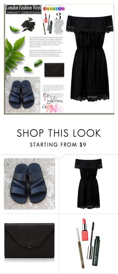 """""""Holysouq 5"""" by mary-turic ❤ liked on Polyvore featuring Jerusalem Sandals, Valextra and Clinique"""