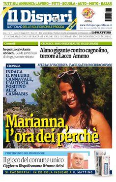 La copertina del 11 maggio 2015 #ildispari #ischia
