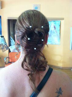 #boda #recogido #peinado #perlas #peluqueria #estilo #wedding #hairstyle