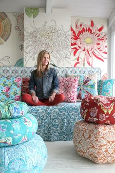 Amy Butler's Alchemy Fabrics...really its that large flower in the background I want...very inspirational